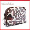 fashion satin semi-circle cosmetic bag