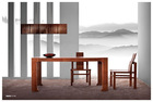 Y66B modern wooden dinning furniture with flexible dinning table and chair