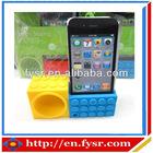 silicone mini speaker silicone cellphone loudspeaker