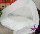 100% cotton plain white hotel fitted sheet manufacturer