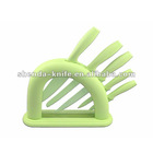 hot selling 5pcs non stick flower colorful knife set