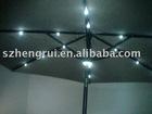 Outdoor solar umbrella lamp