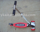 kick scooter with 4 wheels, foldable handle,