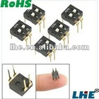 "Dual Row 4 Gold Tone Pin 0.1"" Pitch IC DIP Switch"