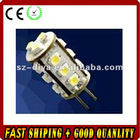 LED G4 light;15pcs 3528 SMD LED;1.2W;DC12V input;cold white color