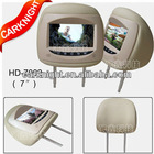7 inch LCD screen touch key headrest monitor HD monitor