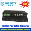 Promotion 4 channel twisted pair video converter BS-VB2400H for cctv camera
