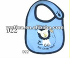 Hot Sale Bule Cotton with Pattern Baby Bibs for Children