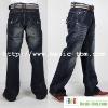 Men's Superior Washed Leisure Flap Pocket Jeans