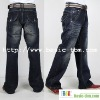 Men's Superior Washed Leisure Flap Pocket Jeans