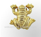 3D Lapel Pin gold frog with Rhinestone