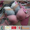 2012 hot selling new design lady's fashion solid push up flower lace bra