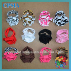 Cute posh pink zebra barefoot sandals for babys