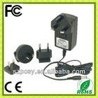 9V 2A 100-240Vac interchangeable plug power adapter
