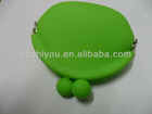 Ladies silicone coin purse with customized logo,heart shape silicone wallet