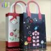 Lovely cartoon style white cardboard paper shopping bag