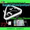 2012 New Arrival ! 72 inch video glasses for ipad&iphone