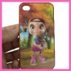 Wholesell cheap plastic cute GIRL accessory 3d cell phone case