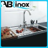 Kitchen Stainless Steel Sink with double bowl with drainer