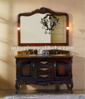SOLID WOODEN CABINET WITH CERAMIC WASH BASIN (MODEL NO.:915)