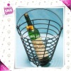 Metal wine basket