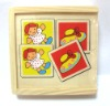 wooden toy educational puzzles box