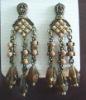 ZE0634 Fashion charming crystal earrings jewelry