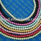 4mm round glass pearls beads