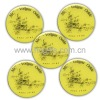 Yellow tin badge