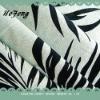 flocking linen/rayon fabric,flocking flax fabric