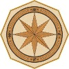 compass medallion parquet marquetry