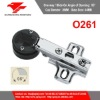 O261 Full-overlay 26mm One Way Slide-on Glass Door Hinge