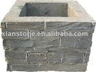 Square ledger slate stone column