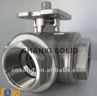 stainless three way ball valve