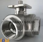 stainless three way ball valve