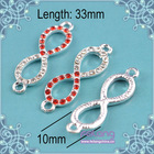 siam rhinestone 8 shaped alloy accessories for jewelry