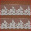 White Embroidery Neat Flowering Craft Lace with Bead