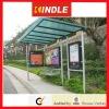 OEM Stainless Steel bus shelter freestanding/flush bonding