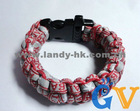 Alabama Team Paracord Survivle Bracelet w Plastic Side Release Buckle