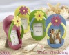 "BeterWedding_SZ006_""Flip-Flop"" Photo Frame with Flower Accent (Set of 4)_Wedding Decoration_Wedding Gift_Wedding Souvenir"