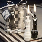 king and queen wedding candle