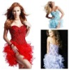 Latest Design 2012 Fashion Sexy Evening Gown Short Red Cocktail Dress Evening