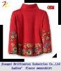 2012 fashionable high quality printed fleece high collar lady sweatshirt