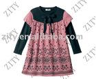 printed Girl's velour pullover