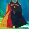 sublimated basketball jersey with design