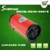 Five inches Car bass tube with USB/SD