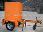 transformer oil purifier with a trailer for purifying insulating oil