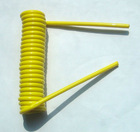 Lanyard steel coil cable yellow color