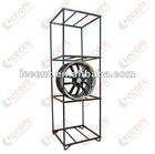 Black Powder Coating Steel Display Rack for wheel rims