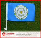 Yorkshire-rose national car flag/Custom Car Flag/car window clip flag
